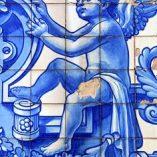 Céramique bleu cobalt ange ailes