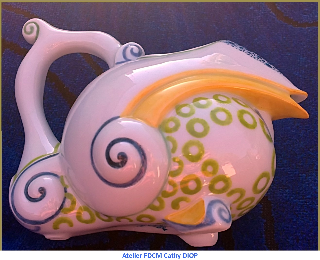 CRÉATION sur service café et thé ( Service Picasso P.D) - Cadeau de mariage